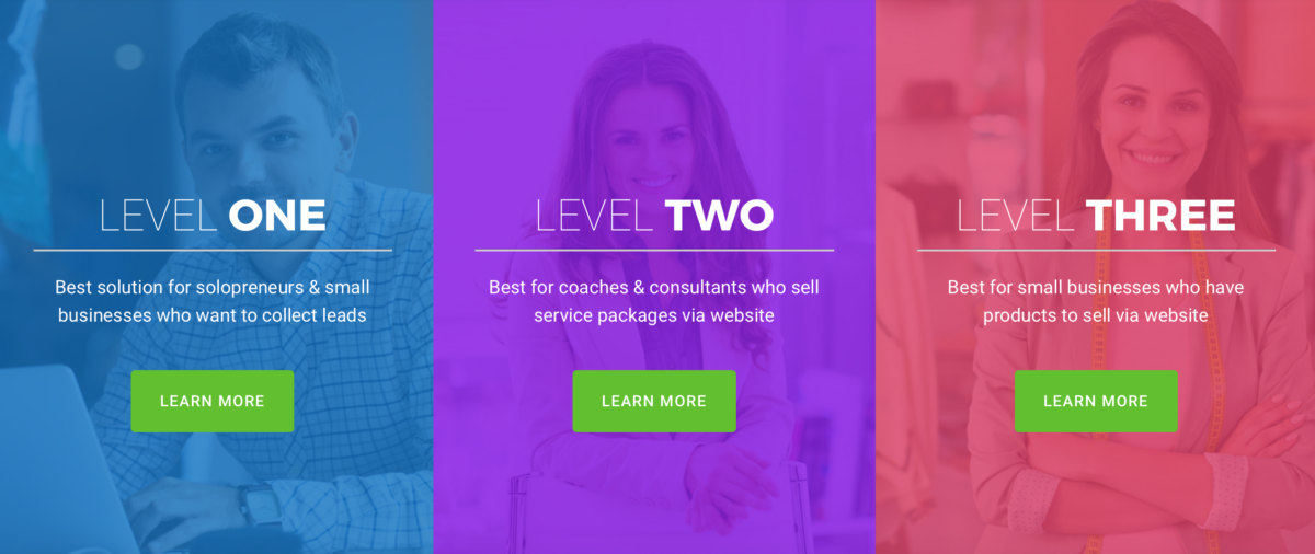 WCI Online Business Launch Levels