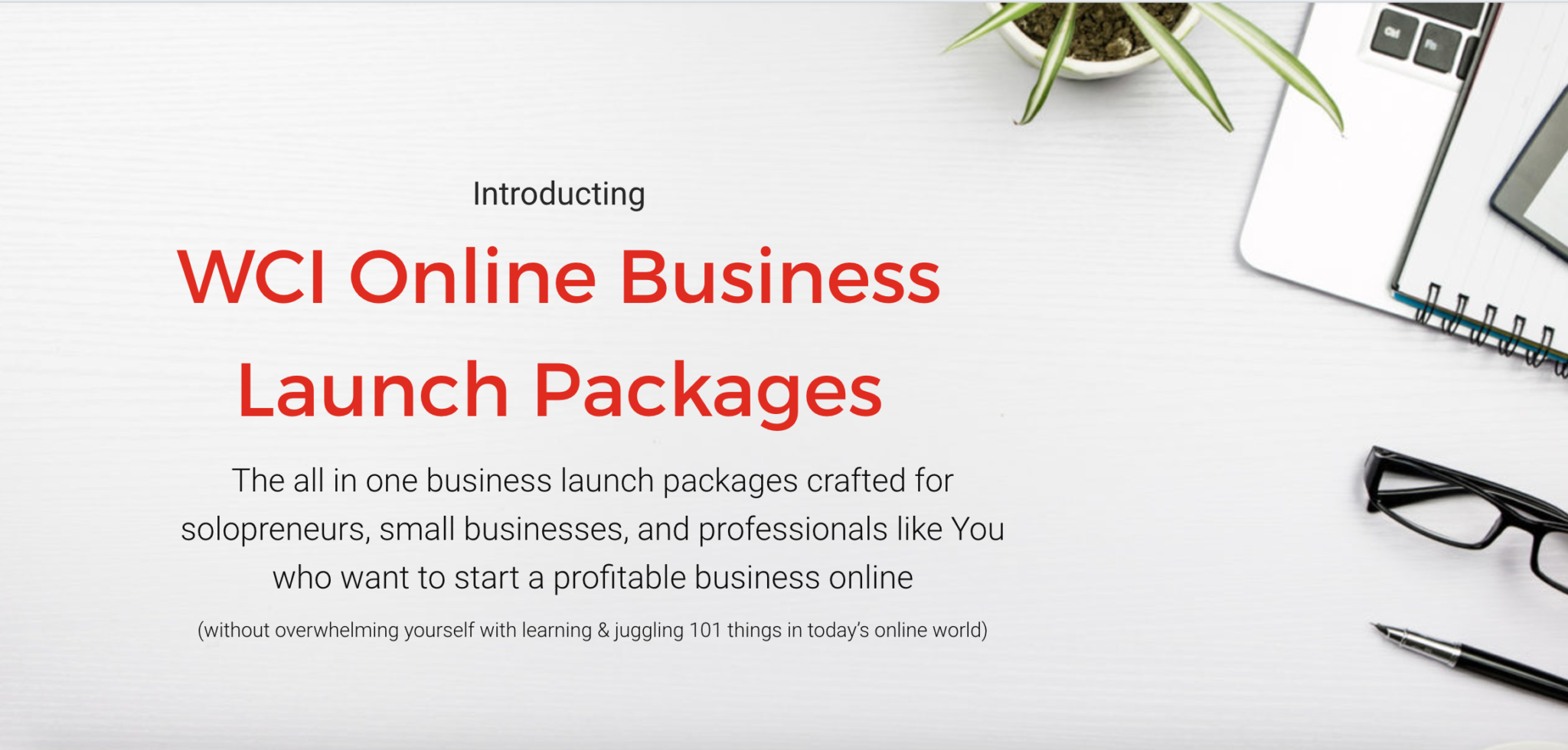 WCI Business Launch Packages